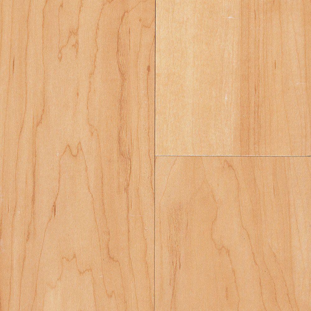 This clean natural Maple luxury vinyl plank has a subtle