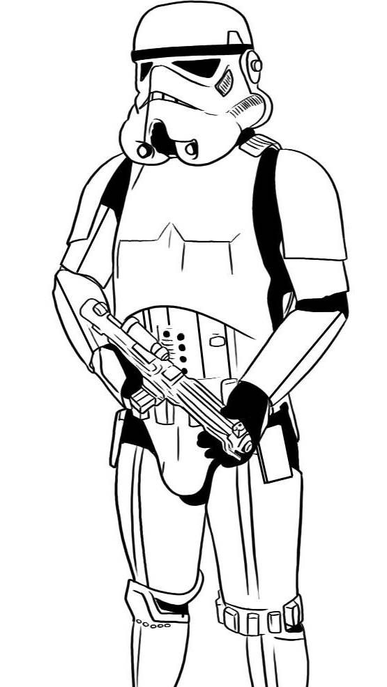 Stormtrooper Coloring Page Etoile Dessin Coloriage Star Wars Fan Art