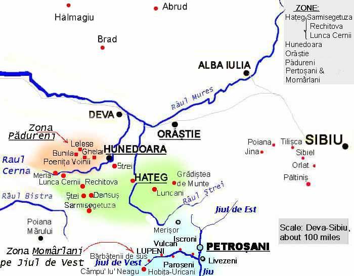 Hateg Map
