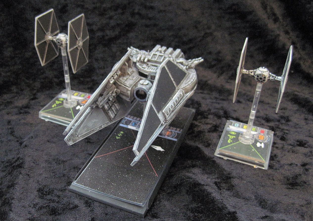 Invivos X Wing Miniatures Game Imperial Tie Intruder Scratchbuild Large Ship X Wing Miniatures X Wing Star Wars Artwork