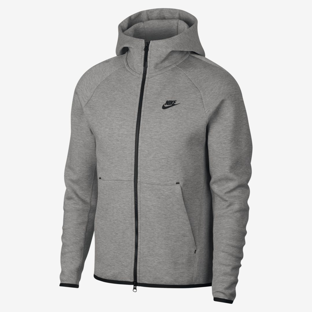 Nike Sportswear Womens Tech Fleece Hoodie FZ Carbon Heather
