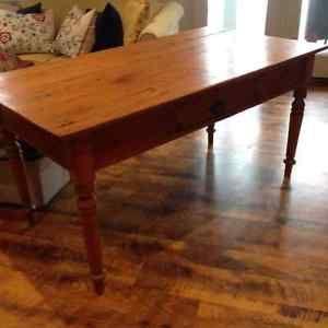 Beautiful Antique Pine Harvest Table Muskoka Ontario Image 1 With