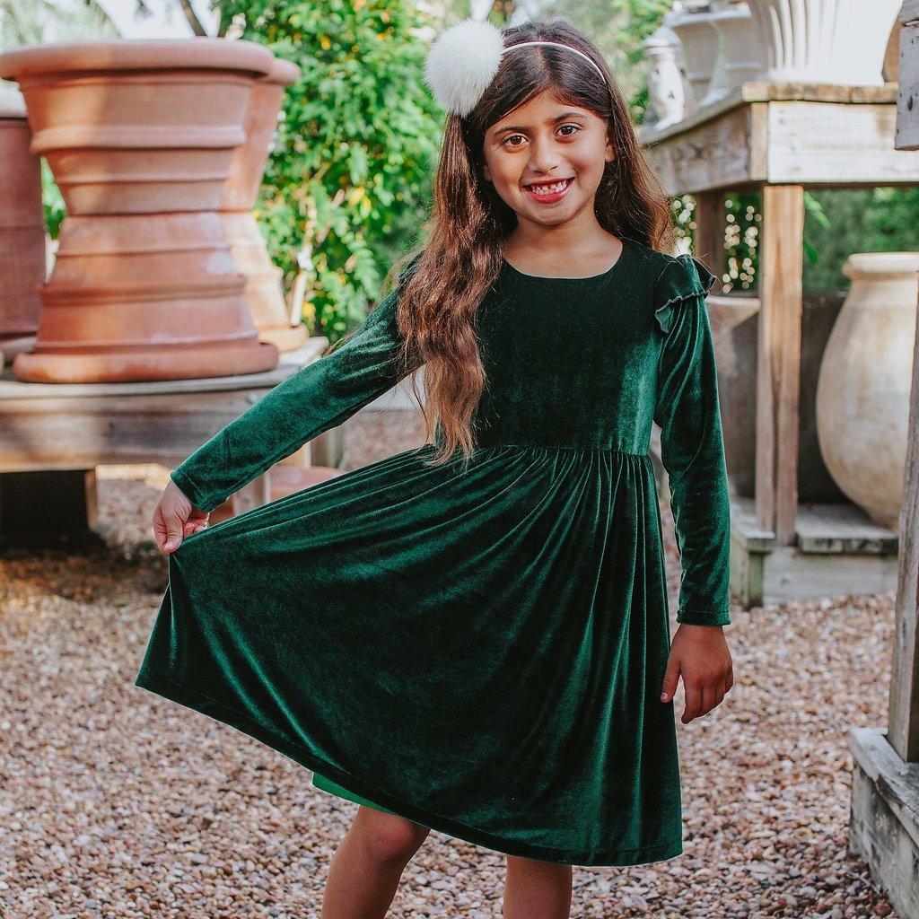 11+ Girls green dress info