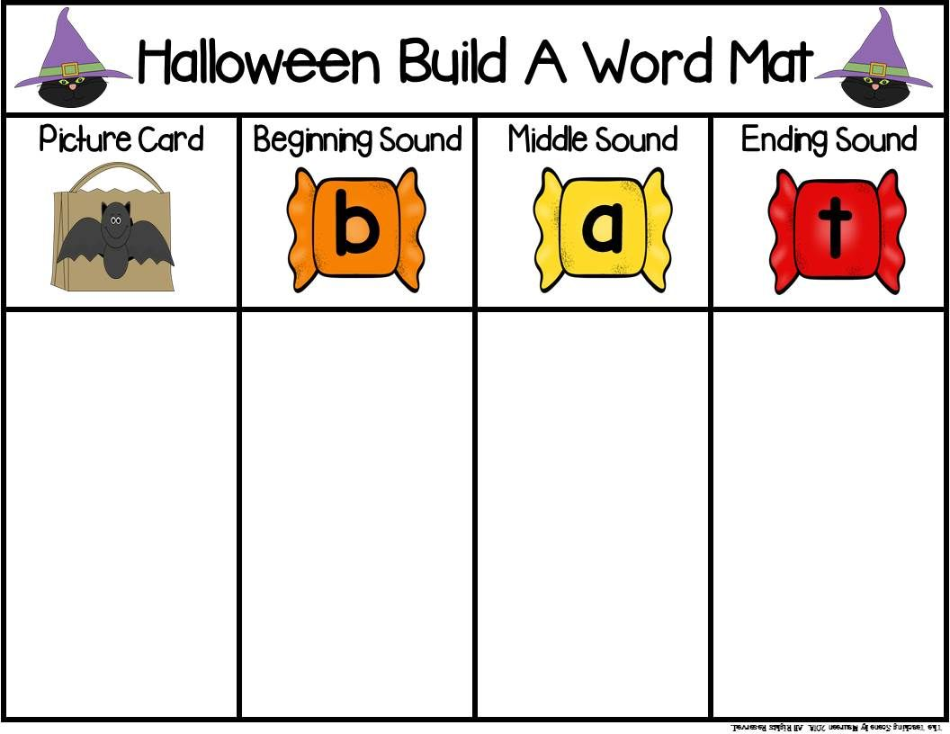 Halloween Build A Word Phonics Game