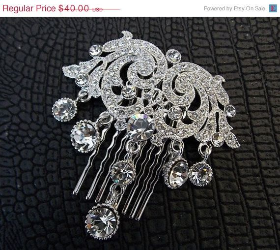 Quirky Wedding Hairstyle: 30 Off Bridal Jewelry Victorian Hair Comb For DIY By