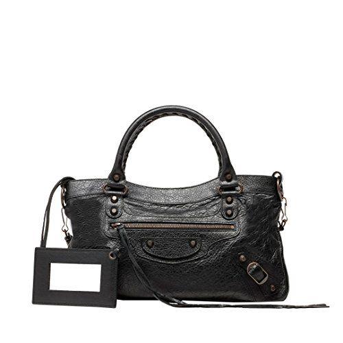 Balenciaga bag, Black leather handbags