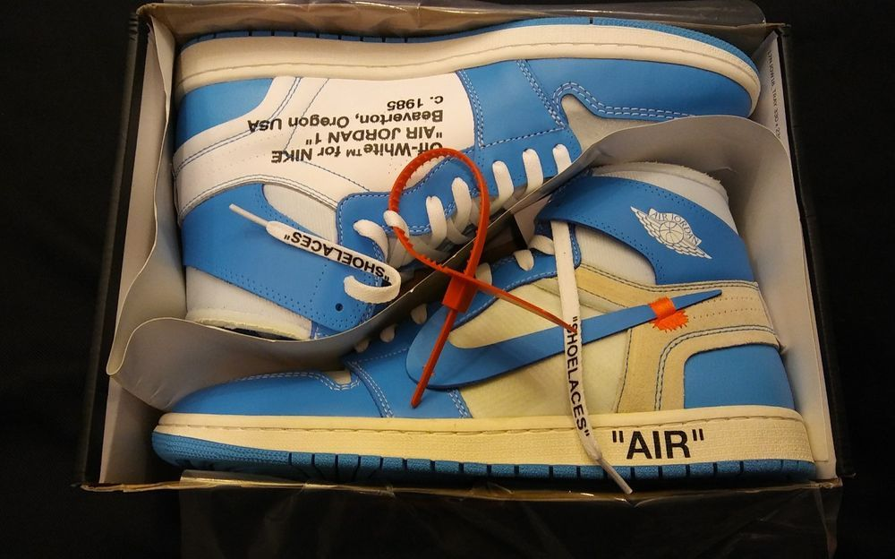 quality design 60943 adbc6 Off-White Nike Air Jordan 1 Retro UNC AQ0818-148 Size 12.5 DS The Ten  Virgil  fashion  clothing  shoes  accessories  mensshoes  athleticshoes  (ebay link)