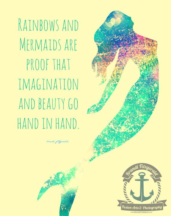 Rainbows and Mermaids Inspirational Quote by ...