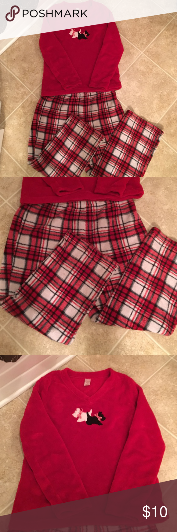 Pajamas Ladies Ladies Cozy Warm Size L 12-14 Size Large 12-14 Pajamas Cute for Christmas ;) with Scotties on top so cute for doggie lovers  other Intimates & Sleepwear Pajamas