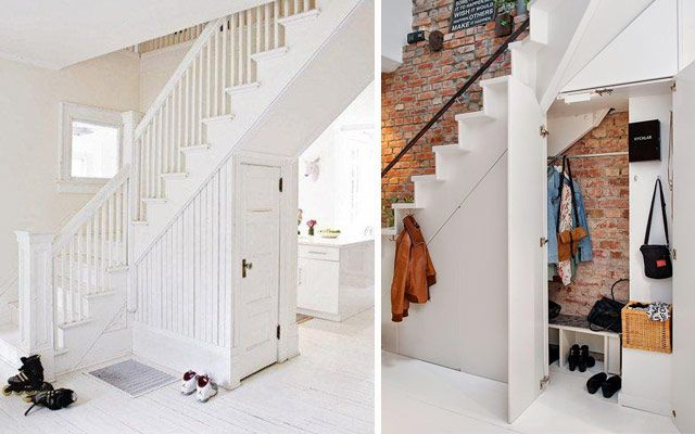 C mo aprovechar el espacio bajo la escalera iv armarios for Armarios para escaleras