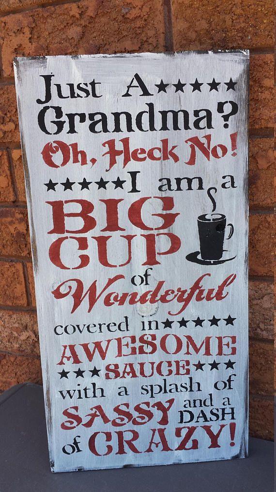 Grandma Sign Humorous Grandma Gift Christmas Gift Grandma Grandma Sign Grandma Quotes Signs