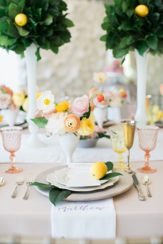 Citrus-hued Garden Rose Wedding Decor inspiration for 2018 2019 ...