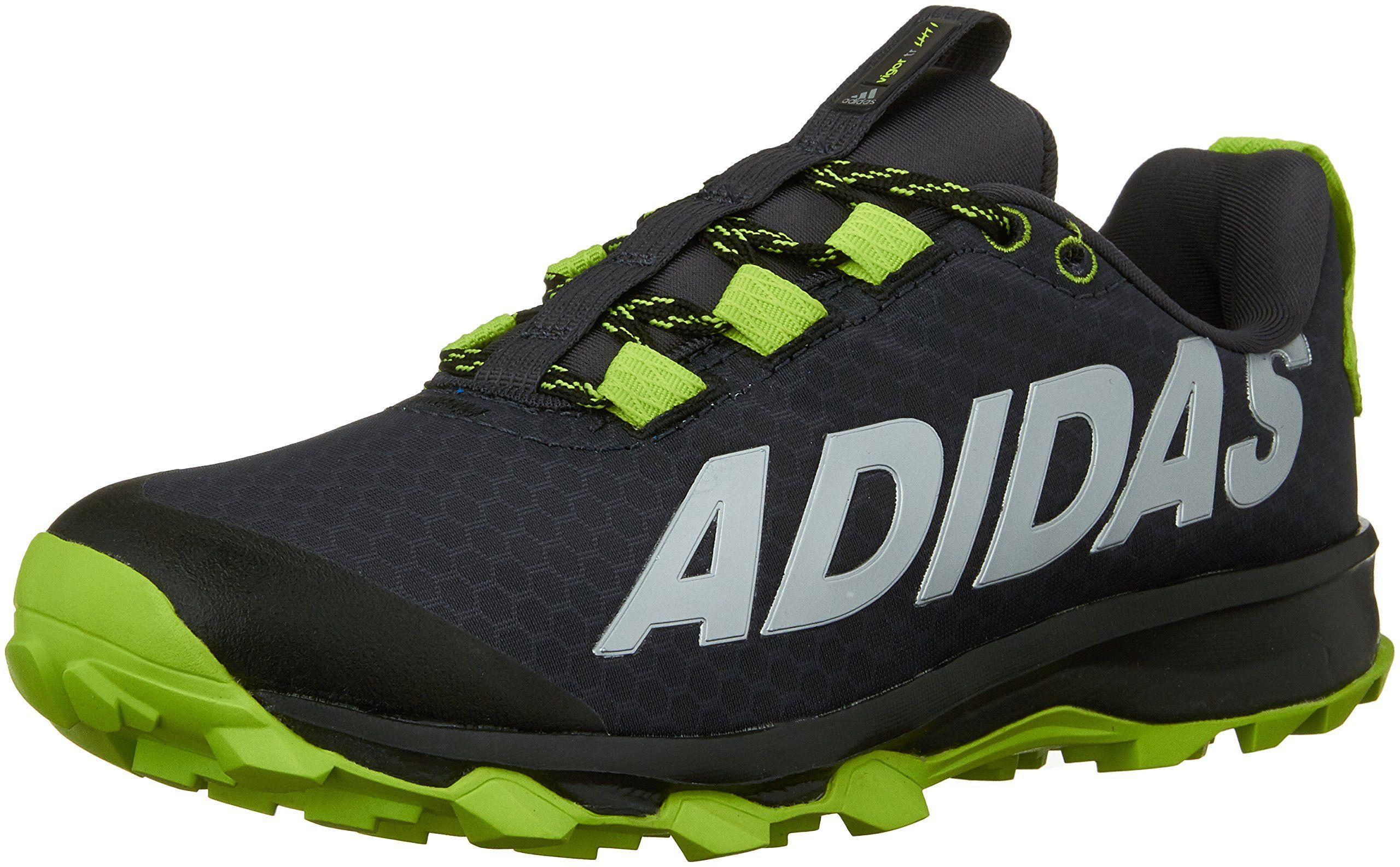 adidas Performance Vigor 6 TR K Trail Shoe (Little Kid/Big Kid),Black/Semi  Solar Slime/Dark Grey,11 M US Little Kid. Air mesh upper for maximum ...