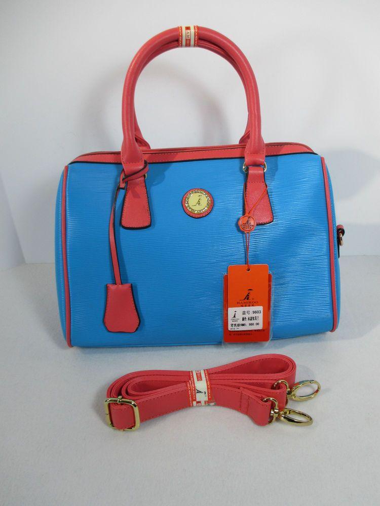 393bec5f13 Purse Hamiroo Fashion Bag Bright Blue Pink Straps Logo Kangaroo  Hamiroo   Satchel