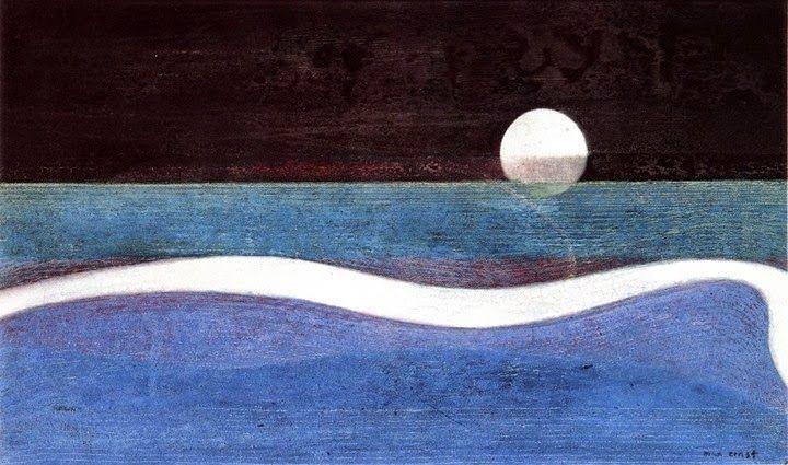 Le Petit Monsieur Cocosse: The moon  Max Ernst, Humboldt Current, 1951-1952