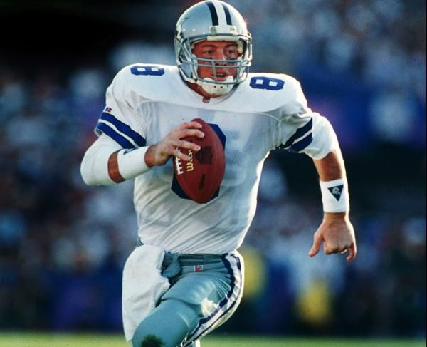 Troy Aikman was the first-overall pick in the 1989 draft, and he would go on to lead the Cowboys to three Super Bowl titles and was MVP of Super Bowl XXVII. He retired after the 2000 season. (AP Photo/Marc Serota)