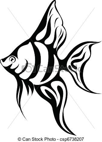 vector angel fish stock illustration royalty free illustrations rh pinterest com angel fish clip art free colorful angelfish clipart