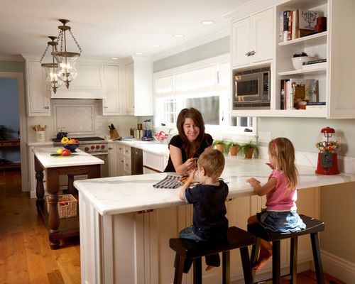 Decorating Traditional Kitchen Island With Peninsula Ideas Home Decor Style Pinterest