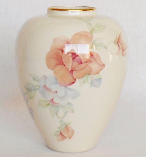 Vintage Lenox Chatsworth Floral Vase Vintage By Beautyeverlasting Floral Vase Floral Vase