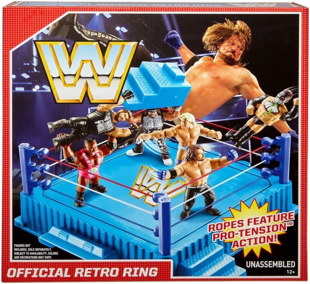 Free Shipping WWF WWE LJN Wrestling Figure Ring Stand W// Logo
