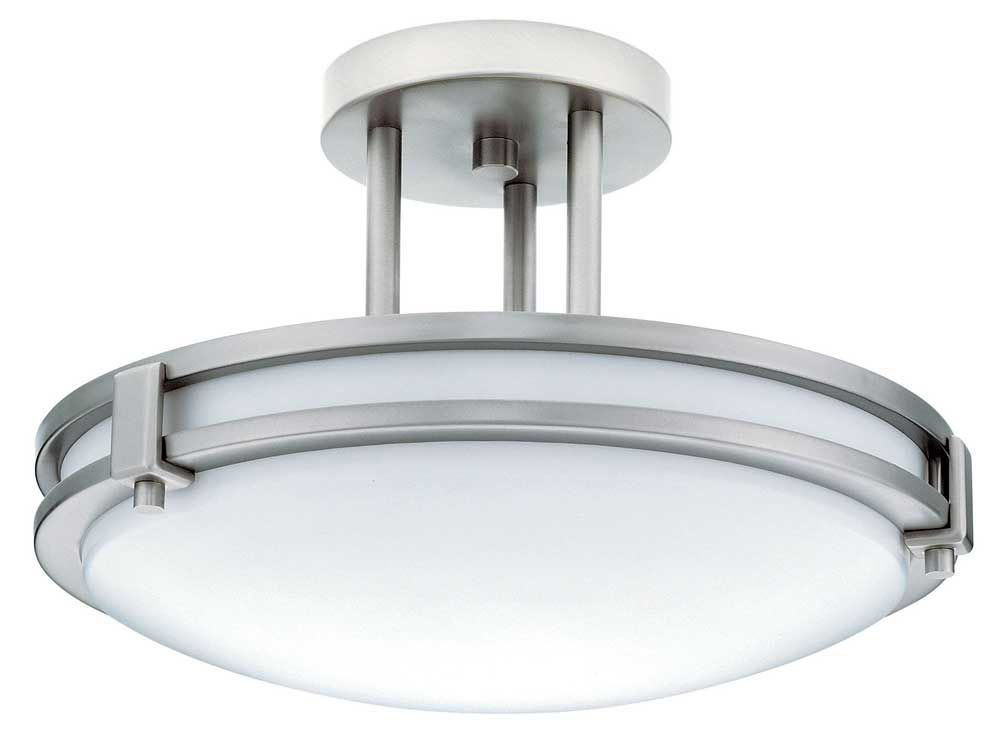 Lithonia Lighting Brushed Nickel M4 Saturn Single Light Acrylic