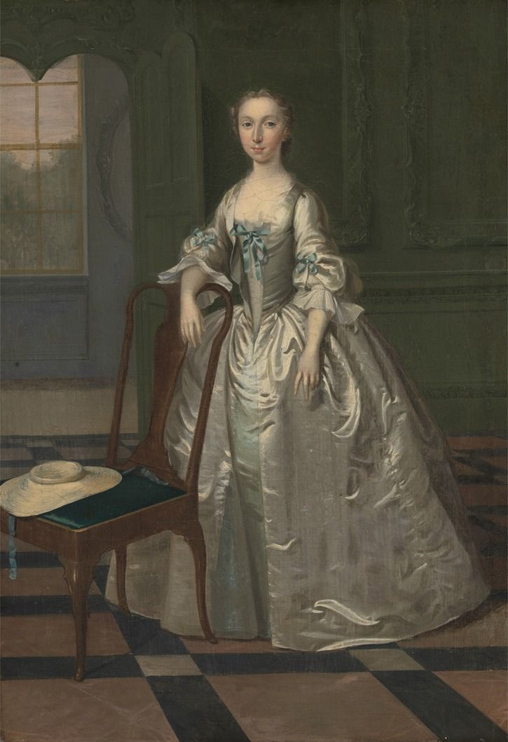 19th Century Drawing Room: 1740-1741 Lady In A Drawing Room By Arthur Devis (With