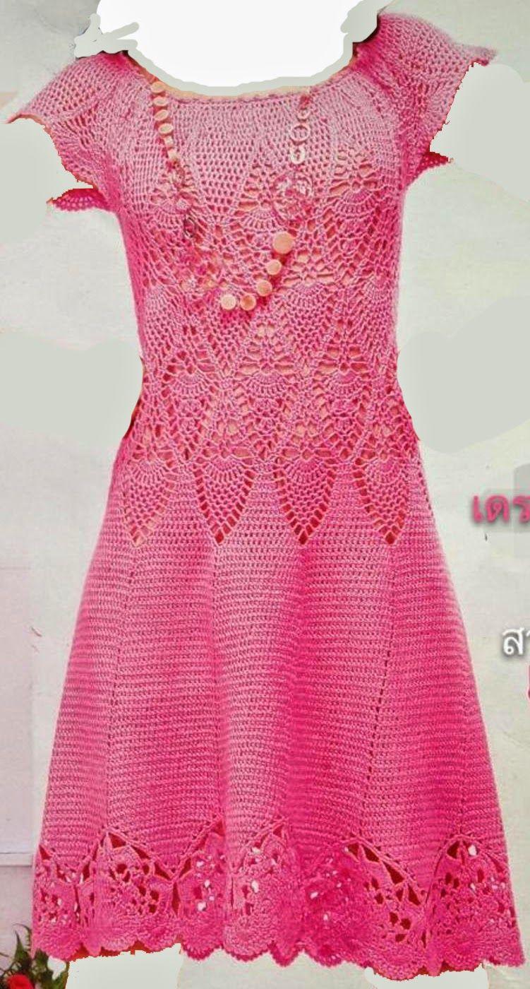Mimo Crochet: رداء نسائي   Vestidos de mujer   Pinterest   Mimos ...