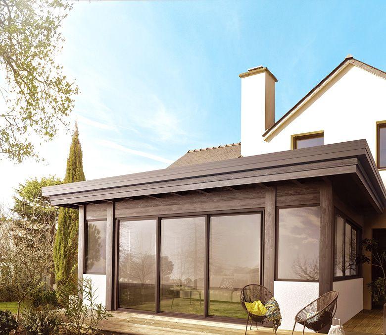 Gamme Horizon, vérandas à toiture plate végétalisée par VIE & VERANDA. | Aménagement extérieur ...