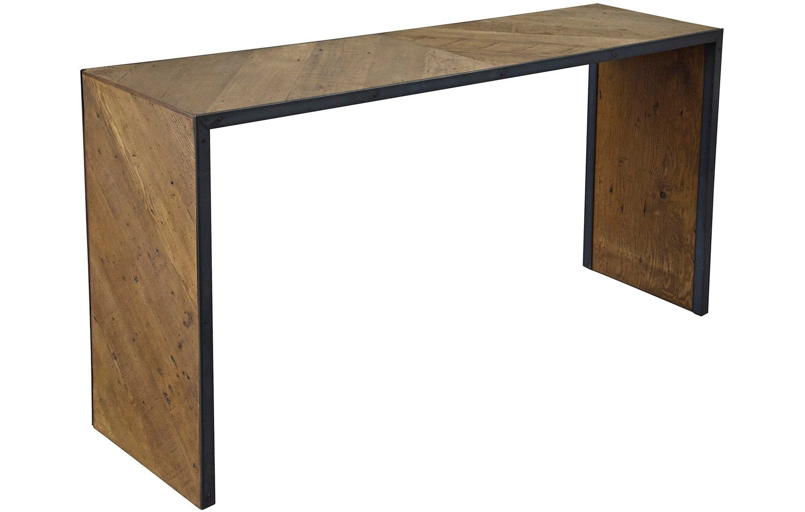Cfc ow reclaimed lumber ayer console w d h foot