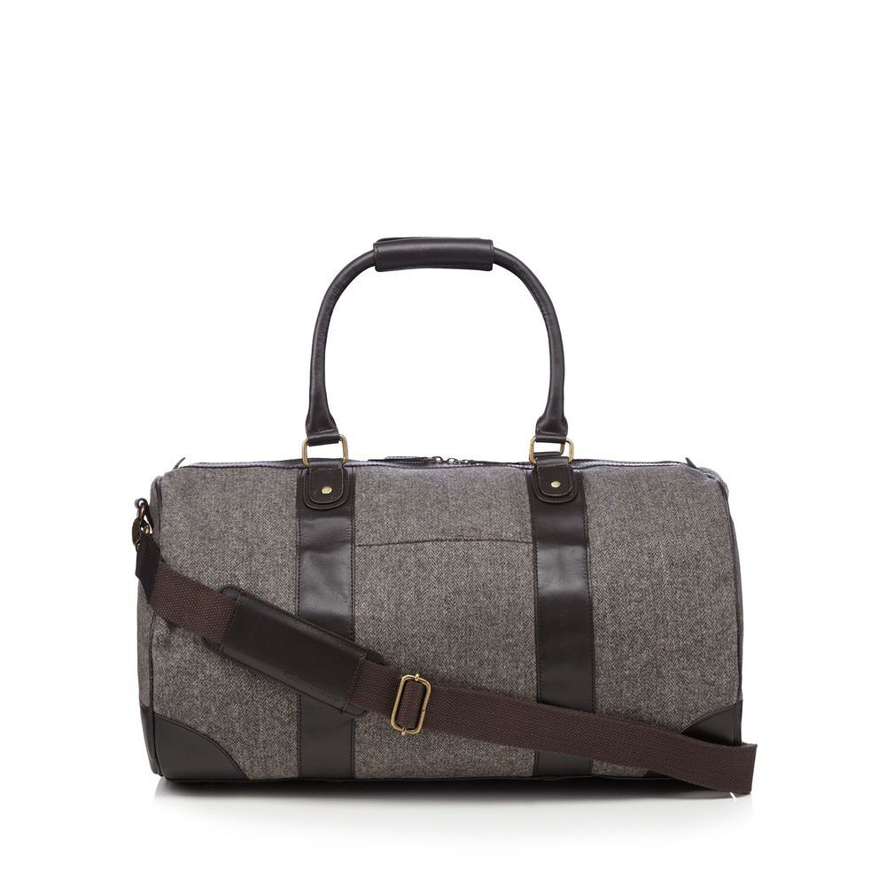 Mens leather gloves at debenhams -  90 Rjr John Rocha Mens Brown Herringbone Tweed Weekend Bag From Debenhams In Home
