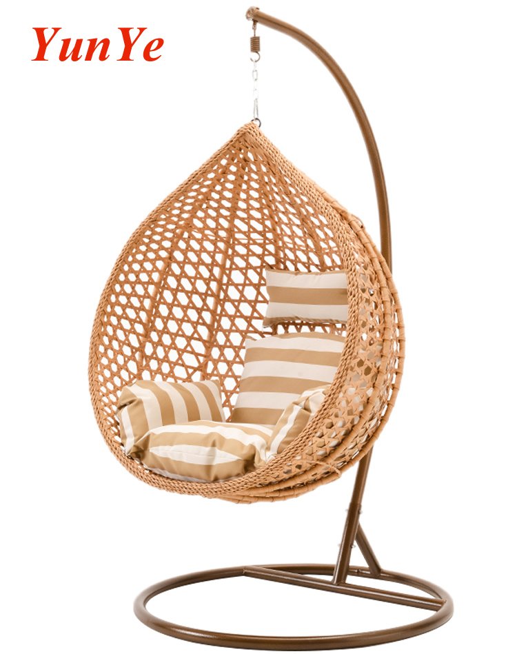 Indoor Furniture Hanging Nest Swing Basket Swing Hanging Chair With Cushion And Stand Seat For Living Ro Hanging Egg Chair Rattan Egg Chair Hanging Swing Chair
