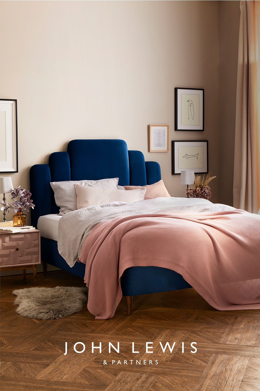 John Lewis Partners Boutique Upholstered Bed Frame King Size Opulence Royal Blue In 2020 Small Room Bedroom Redecorate Bedroom Room Ideas Bedroom