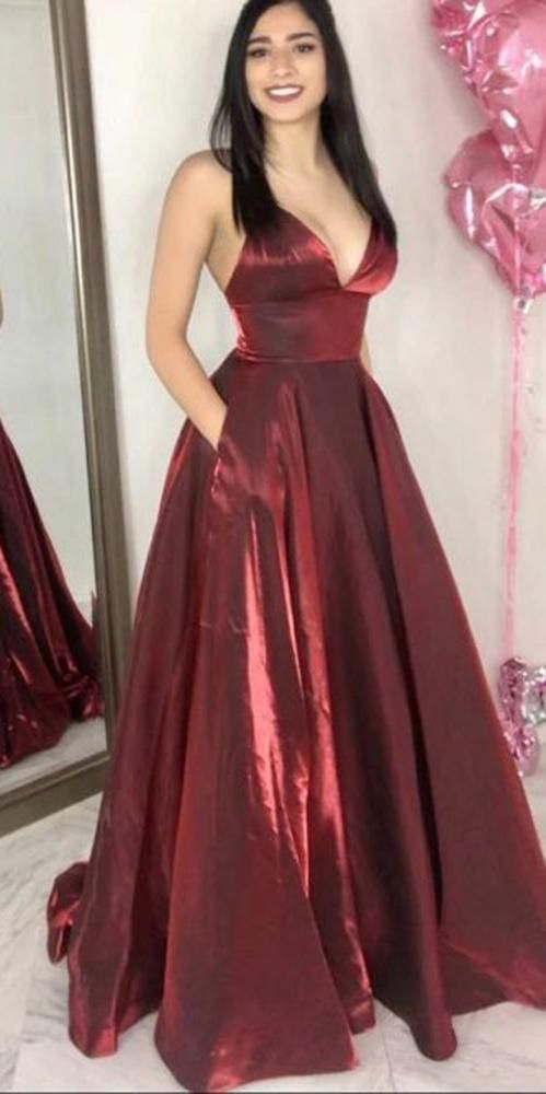 Simple Sexy Spaghetti Straps Long Prom Dress with Pockets Custom Made Long Evening Gowns Fashion Long School Dance Dress Women's Pagent Dresses PD887 #schooldancedresses Simple Sexy Spaghetti Straps Long Prom Dress with Pockets Custom Made Long Evening Gowns Fashion Long School Dance Dress Women's Pagent Dresses PD887 #schooldancedresses