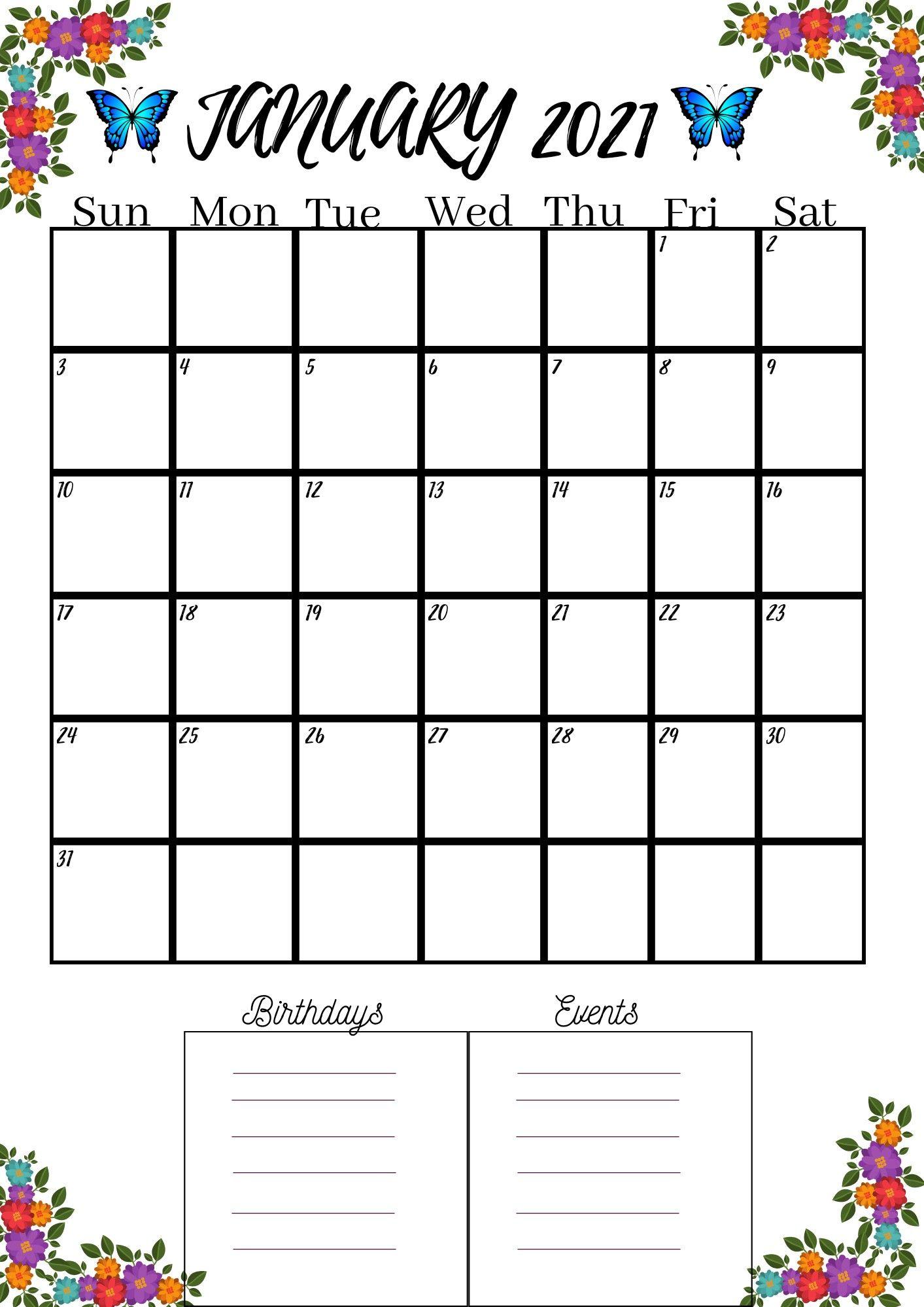 Year 2021 Calendar Etsy In 2020 Calendar 2021 Calendar Printable Calendar Pdf