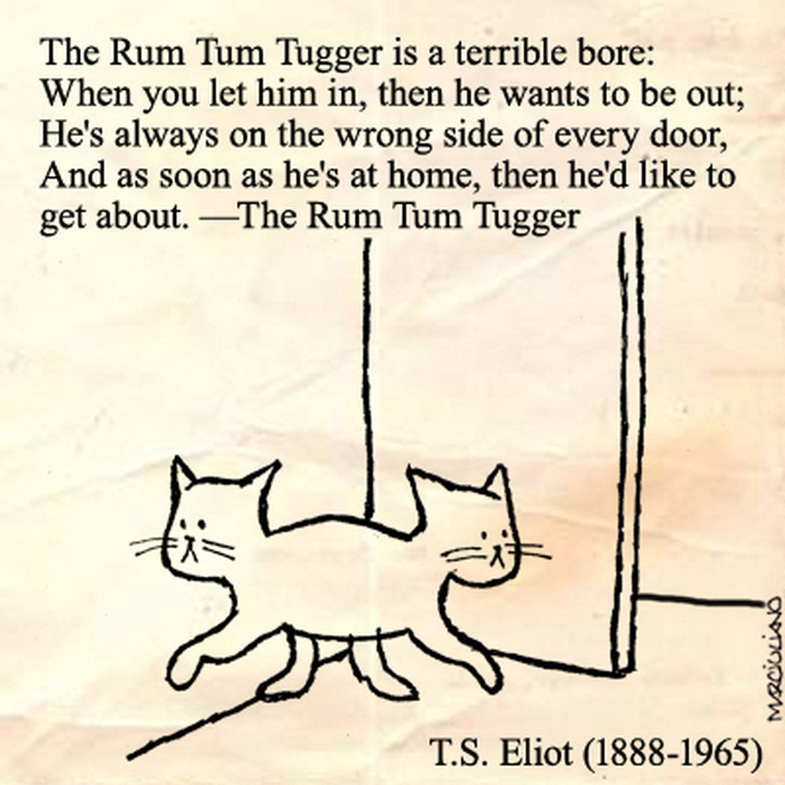 A Cartoon Tribute To Cats And The Poets Who Loved Them
