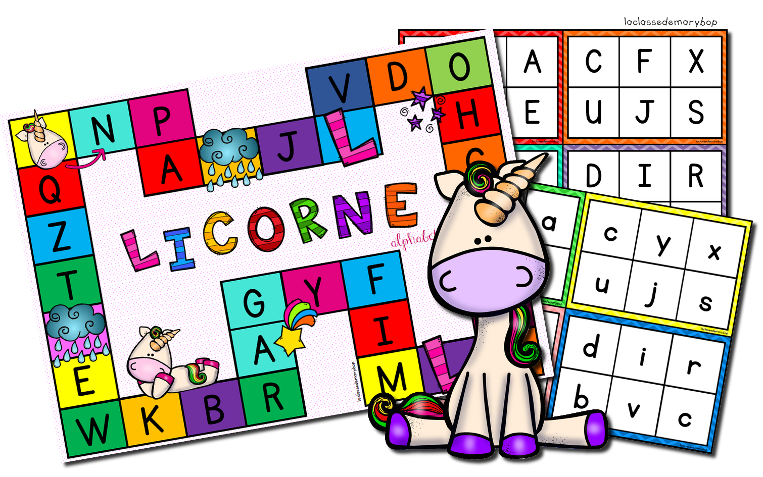 Jeu De La Licorne Alphabet