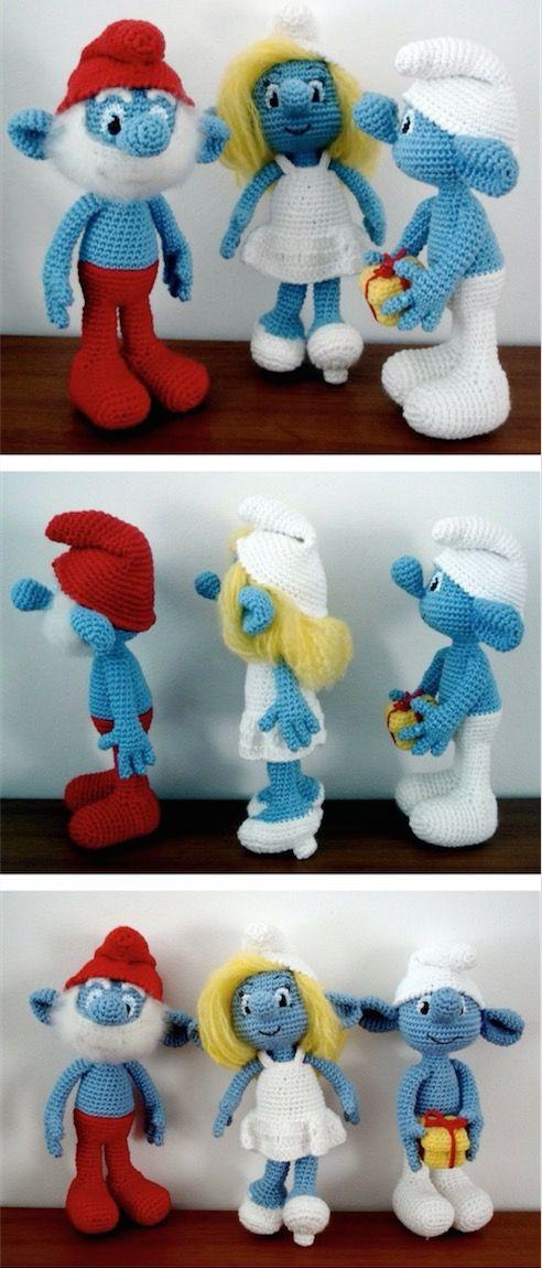 Crochet Smurf Doll Video Instructions Free Patterns | Jean ...
