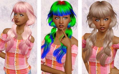 Newsea's Sesame hair retextured by BEAVERHAUSEN - Sims 3 Downloads CC Caboodle