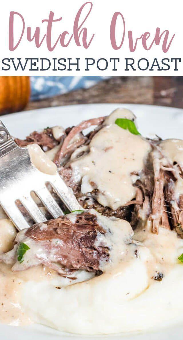 Photo of Swedish Pot Roast with Gravy Recipe {Easy Dutch Oven Beef Ro…