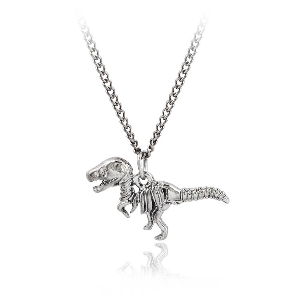 Dinosaur Skeleton Pendant Necklace Featured Jewelry Jewelry Amethyst Crystal Necklace