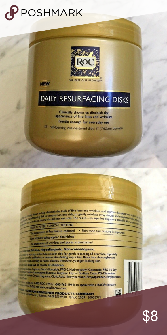 Roc Daily Resurfacing Disks 28 Ct Makeup Remover Roc Daily Resurfacing Facial Disks Anti Aging Exfoliating Makeup Removing P Makeup Remover How To Remove Disc