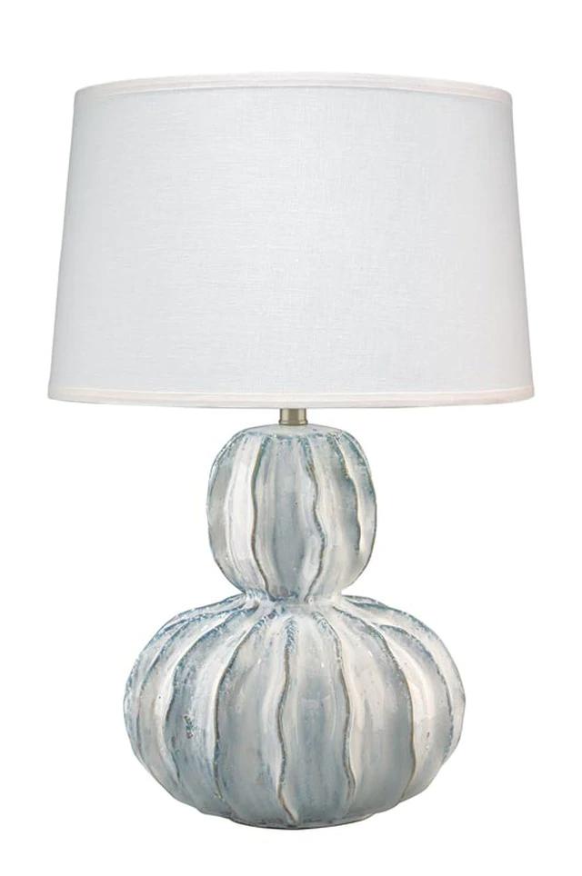 Oceane Gourd Table Lamp In White Ceramic Table Lamp Lamp White Ceramics