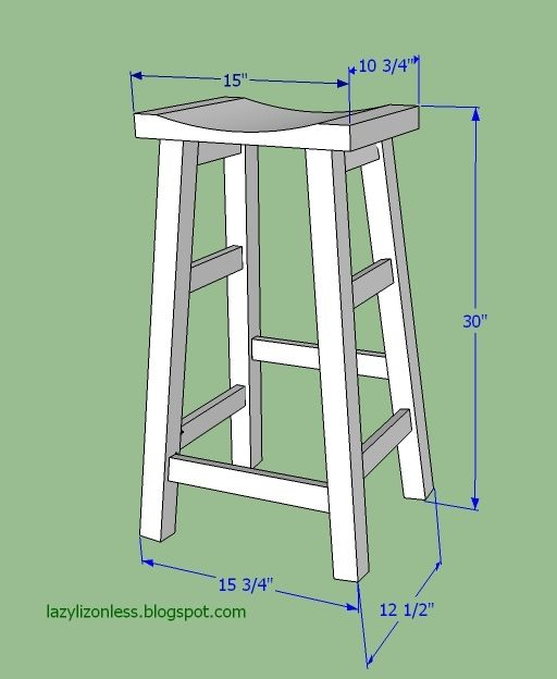 Bar Stool Measurements By Lazy Liz On Less Diy Stool Diy Bar