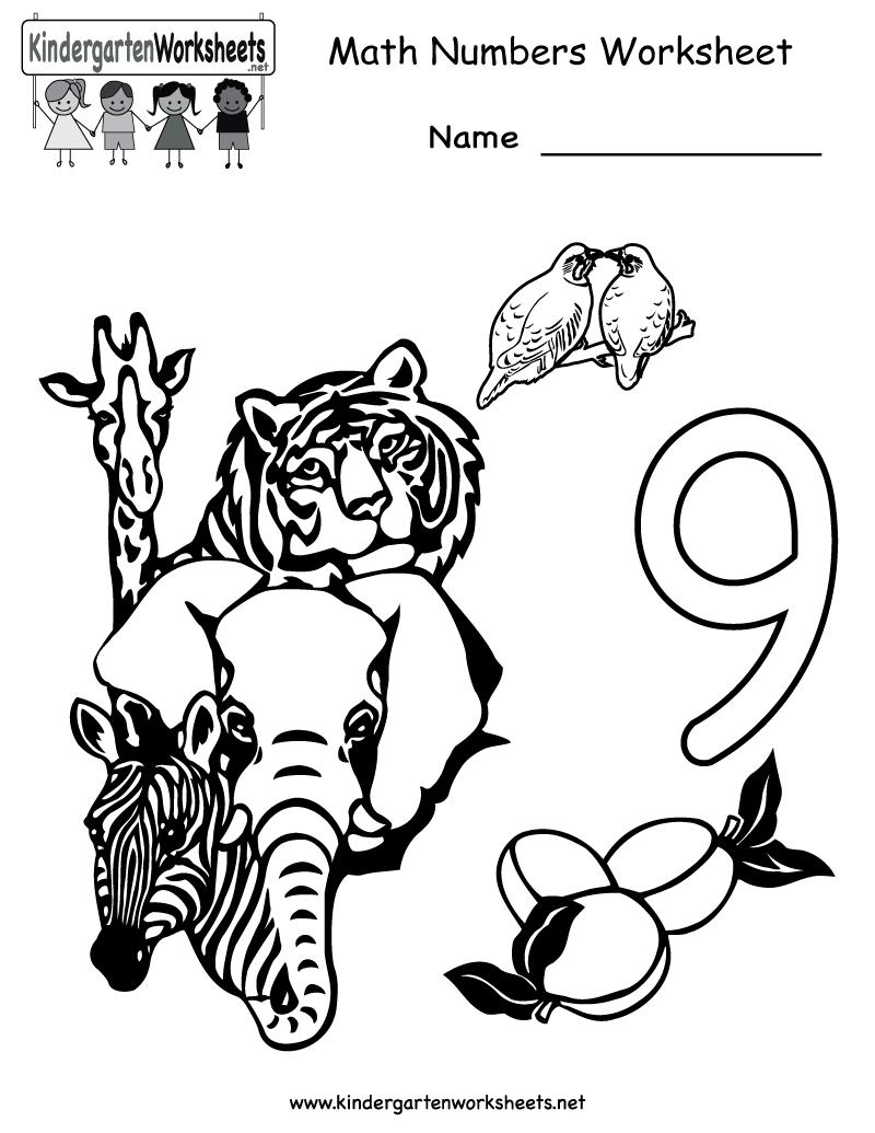 Kindergarten Math Numbers Worksheet Printable Kindergarten Math Worksheets Free Numbers Kindergarten Kindergarten Math [ 1035 x 800 Pixel ]