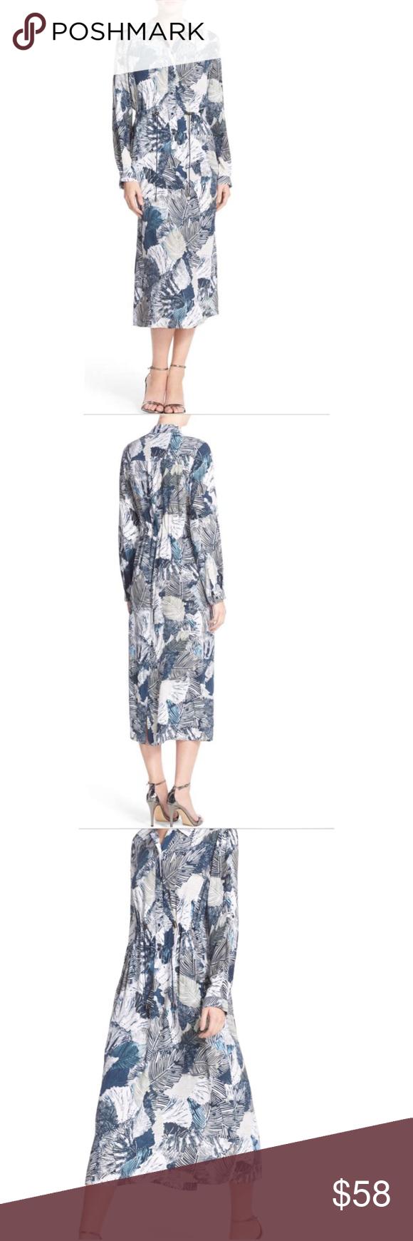 7bd56763621 🆕 French Connection LaLa Palm Print Shirt Dress