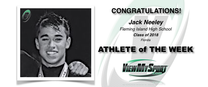 Congratulations to this week's ViewMySport ATHLETE of THE WEEK - JACK NEELEY - Swimming - Class of 2018 - Fleming Island High School (FL)... GREAT JOB JACK!  ViewMySport.com - Your #1 College Sports Recruiting &  Scholarship Networking Resource!  https://www.viewmysport.com/r-894-jack-neeley-swimming