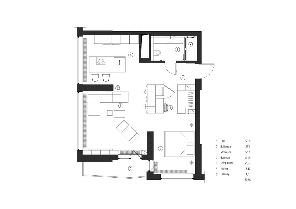 BlankM40ARCHITECTS40 Plan Studio Apartment Layout Minimalist Cool One Bedroom Apartment Plan Minimalist