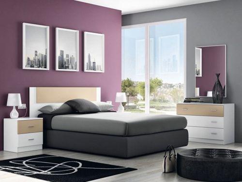 Dormitorio decorado en color gris decoraciones favoritas - Habitaciones color gris ...