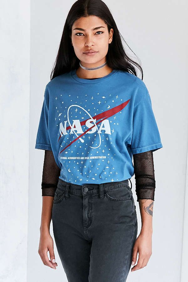 Tops + T-shirts Sale for Women. Urban Outfitters NASA Tee (Blue or White) -   34 d4d79262e0a5