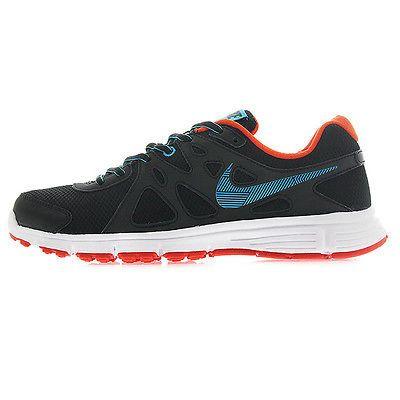 a90cf1a1ddd9 Nike Revolution 2 Msl Mens 554954-057 Black Blue Orange Running Shoes Size  10.5
